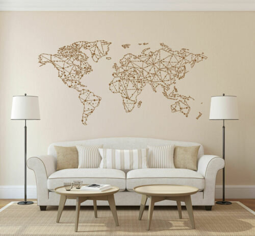 Wall Decal Sticker World Map