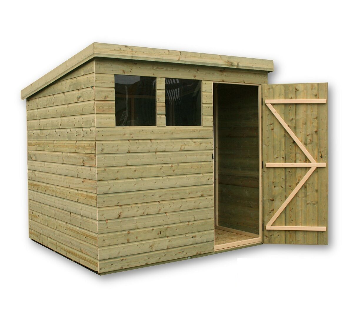 garden shed 8x5 shiplap pent shed pressure treated tanalised tongue and groove - Garden Sheds 8 X 5