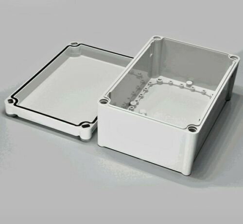 "Electrical Junction Box - 9 3/4"" X 6"" X 4"". Gray ABS. Weather Proof to IP67."