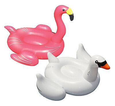 Swimline Swimming Pool Giant Rideable Inflatable Swan + Flamingo | 90621 + 90627](Giant Inflatable Swan)