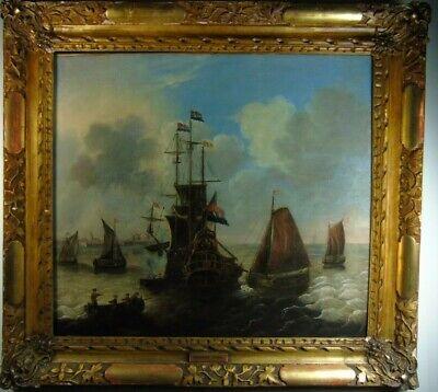 Schule (Attribut) Abraham Storck Niederländische Marinedarstellung Ölgemälde