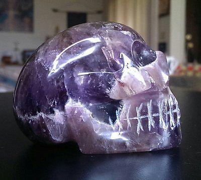 AURALITE 23 CRYSTAL SKULL! Crystal Healing Carving Quartz Super Seven Sis Large
