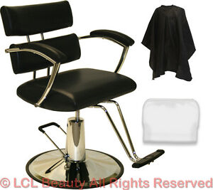 New Extra Wide Black Hydraulic Barber Chair Styling Hair