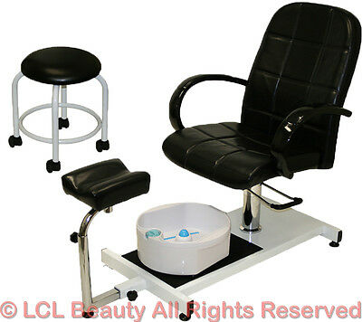 Pedicure Unit Station Hydraulic Chair & Massage Foot Spa Beauty Salon Equipment