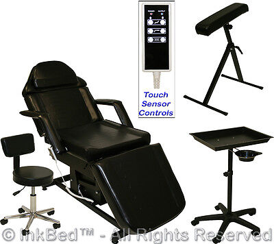 InkBed Tattoo Package Electric Massage Table Chair Arm Bar Tray Studio Equipment