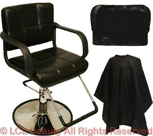 black hydraulic styling barber chair hair beauty salon equipment