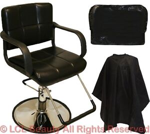 Professional Black Hydraulic Styling Barber Chair Hair Beauty Salon Equipment