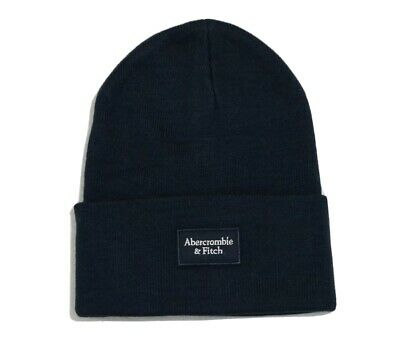 Abercrombie & Fitch Logo Patch Beanie one size fit new with tags $20,  navy