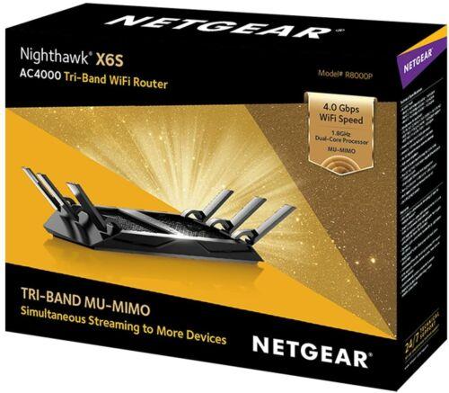 Netgear Nighthawk X6S Tri-band AC4000 WiFi Router R8000P Good Shape