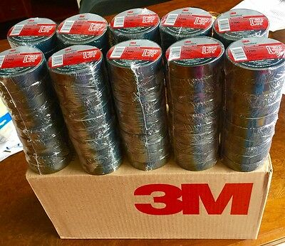 3m Temflex 1700 34 X 60 Black Vinyl Electrical Tape 100 Rolls Free Shipping..