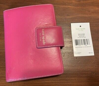 Kate Spade Debra Pocket Jane Street Pink Red Leather Organizer 165 Retail