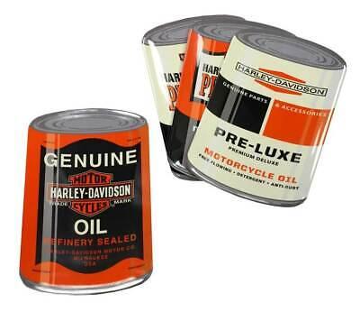 Harley-Davidson® Genuine Oil Can Snack Plate Set, 4 Iconic Designs **HDL-18556**