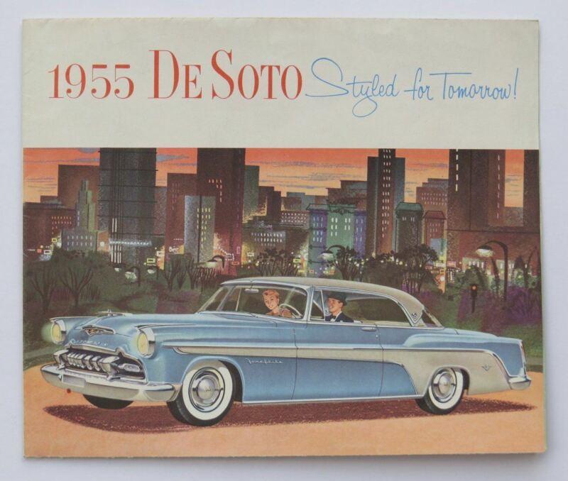 1955 DeSoto Foldout  Fireflite Firedome V-8 Brochure