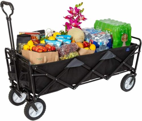 """MacSports Xtender Collapsible Folding Outdoor Utility Wagon Extra Long 49.5""""x18"""""""