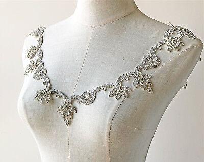Strass Kette Kristall Brautkleid Applikation Perlen Tanzend Hochzeit Kleid Rand (Kristall Hochzeit Kleid)