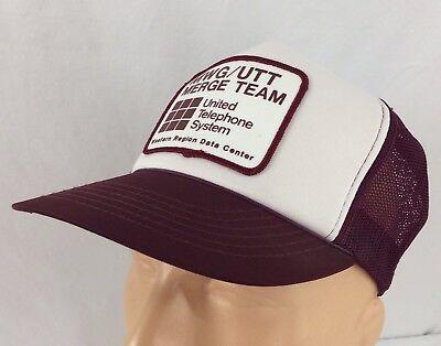 Vtg United Telephone Systems Trucker Hat Snapback Merge Team Data Center Cap