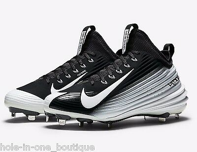 b177c0465068 New Nike Lunar Vapor Mike Trout Metal Baseball Cleats Black White Size 13
