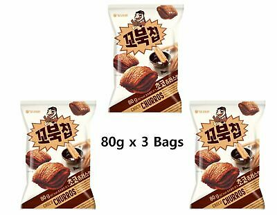 ORION KKobuk Turtle Chip Chocolate Churros Flavor 80g x 3 bags BIG HIT In Korea