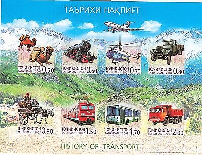 TRENI & TRASPORTI - TRANSPORTS TAJIKISTAN 2007 block B