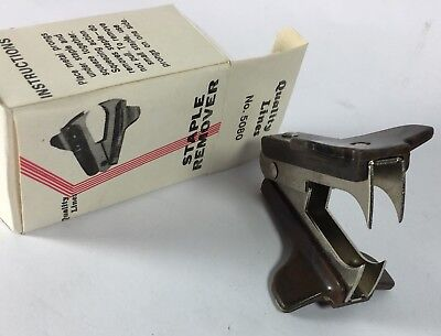 Beautiful Vintage Brown Stapler Remover Puller New Rare Old School Classic