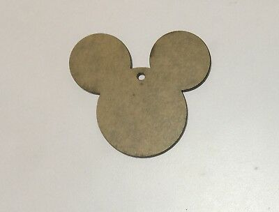 "(10) 3"" Mouse Ears Clear or Black Acrylic 1/8' Thick Keychain Blanks (Blank Acrylic Keychains)"