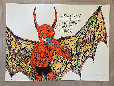 """NECKFACE """"CHASE YOU ???"""" PRINT SIGNED ARTIST PROOF"""