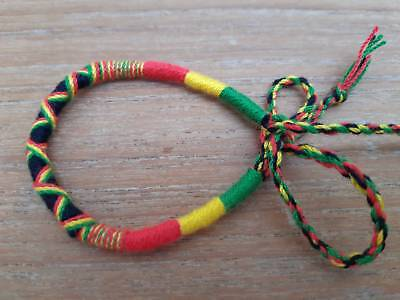 Kids Friendship Bracelets (Rasta Friendship Bracelet for Kids Women Handmade Adjustable Woven Thread 6