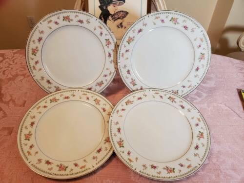 4 Abingdon Fine Porcelain Plates Dinner Plates Made in Japan