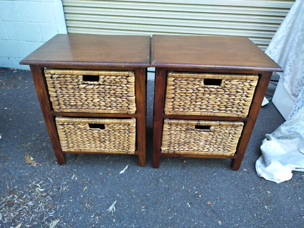 Wooden drawers for sale $30 for both.