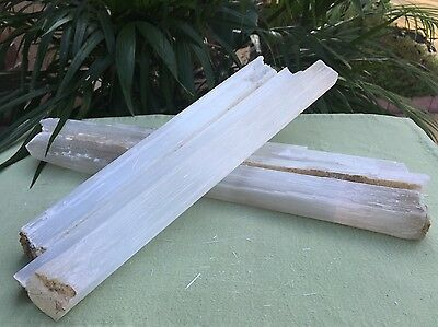 "20 Selenite Stick 14"" Selenite Wand Gemstone Specimen Reiki Chakra Crystal Wand."