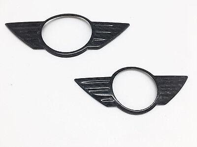 Front & Rear Carbon Fiber insert Emblem Badge Cover For 14 Mini cooper S F55 F56