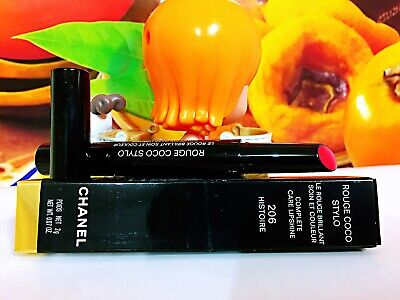 CHANEL ROUGE COCO STYLO LE ROUGE BRILLANT COMPLETE CARE LIPSHINE #206 Histoire N