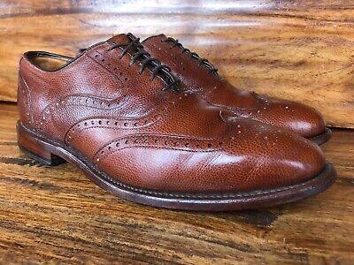 "Men's Allen Edmonds ""McClain"" Wingtip Dress Shoes Brown Leather Size 8 E Allen Edmonds Dress Shoes"