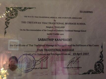 Thai massage $50/hr home business