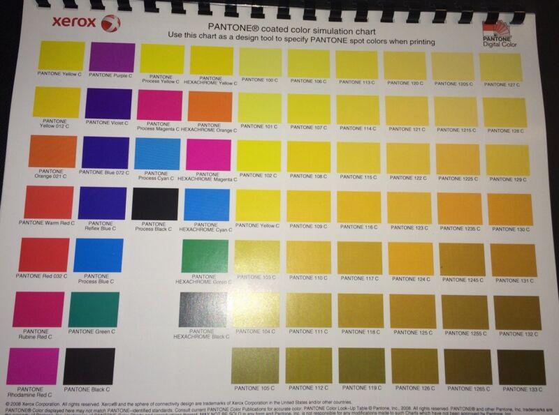 PANTONE COATED COLOR SIMULATION CHART/DESIGN TOOL 4 Graphic Designers & Pressman