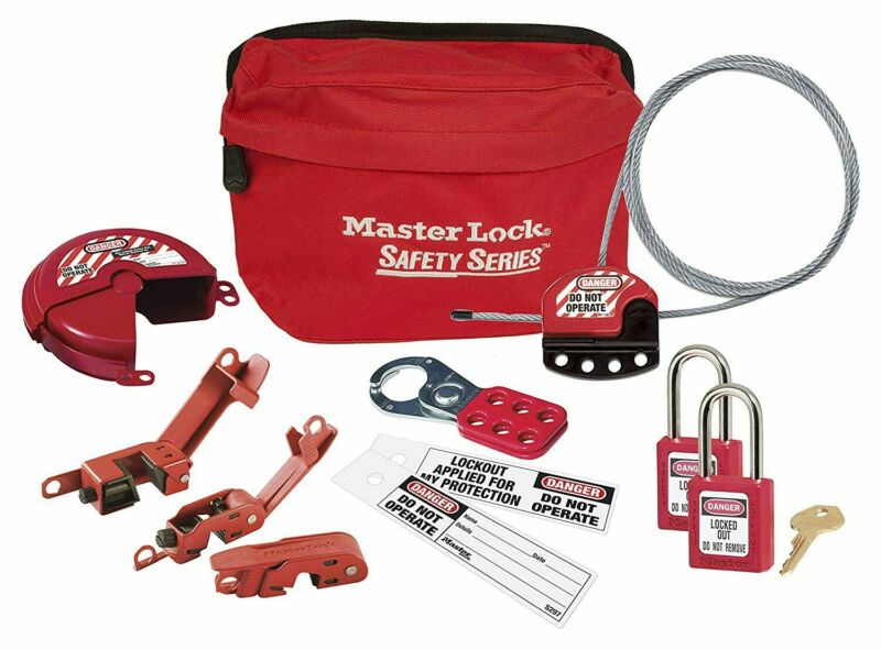 MASTER LOCK GENERAL CONTRACTOR LOCKOUT KIT S1010DGCKIT with bag