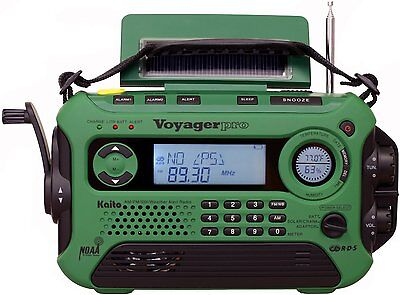 Kaito Ka600 Solar Crank Noaa Weather Radio With Am Fm Shortwave   Green