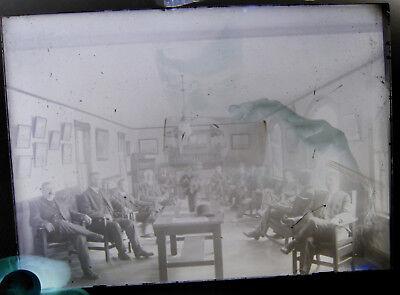 1909 Conanicut Yacht Club Board Room Meeting Antique Photo Jamestown, RI