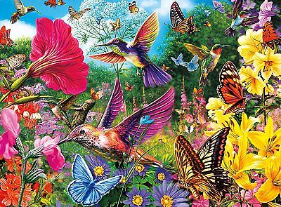 Buffalo Games 11708 Vivid Hummingbird Garden 1000 Piece Jigsaw Puzzle For Kids