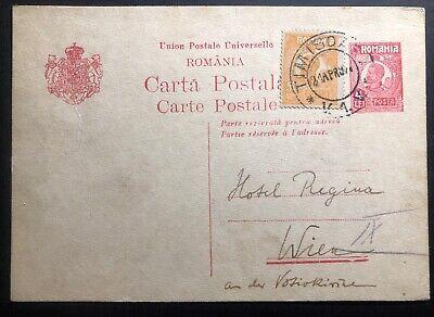 1927 Timisoara Romania Stationery postcard Cover To Vienna Austria