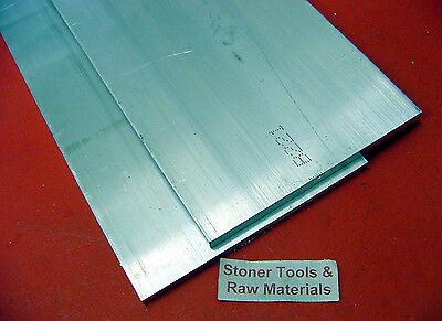 2 Pieces 38 X 6 Aluminum 6061 Flat Bar 10 Long T6511 .375 Plate Mill Stock