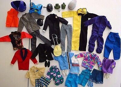 HUGE lot KEN Barbie  36 Pc Doll Clothes Outfit Accessories Shoes Vintage Assort.