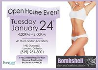 Laser hair removal Open House!