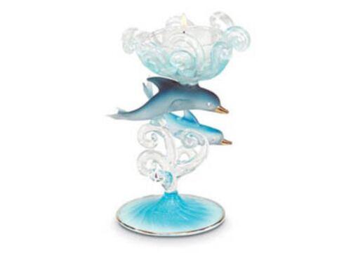 Dolphin & Baby Glass Figurine