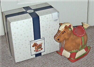 "Living Quarters ""Under the Tree"" Ceramic ROCKING HORSE Cookie Jar (in Box)"