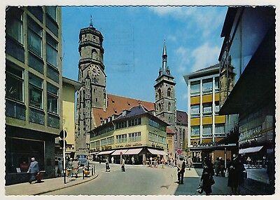 STUTTGART Stiftskirche & Stiftstraße / Wurster Schuhe * AK um 1960