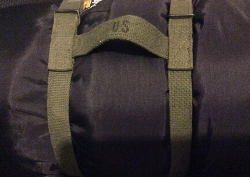 US Military Army GI Sleeping Bag Carry/Carrying Canvas/Cotton Web Straps NOS USA