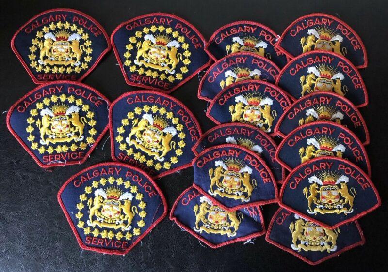 Huge Lot Of 17 Calgary Police Badges Uniform Canada Shoulder Badge
