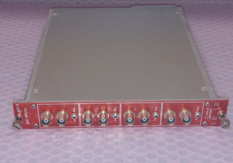 EG&G Ortec AN302/N Quad Amplifier NIM BIN Module