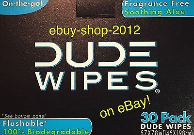 DUDE WIPES 30 PACK Single Wipes $pecial! Fast Shipping!🚽NEW Packaging!